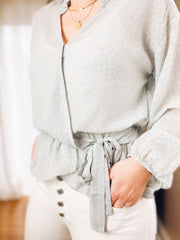 A love Story Wrap Blouse