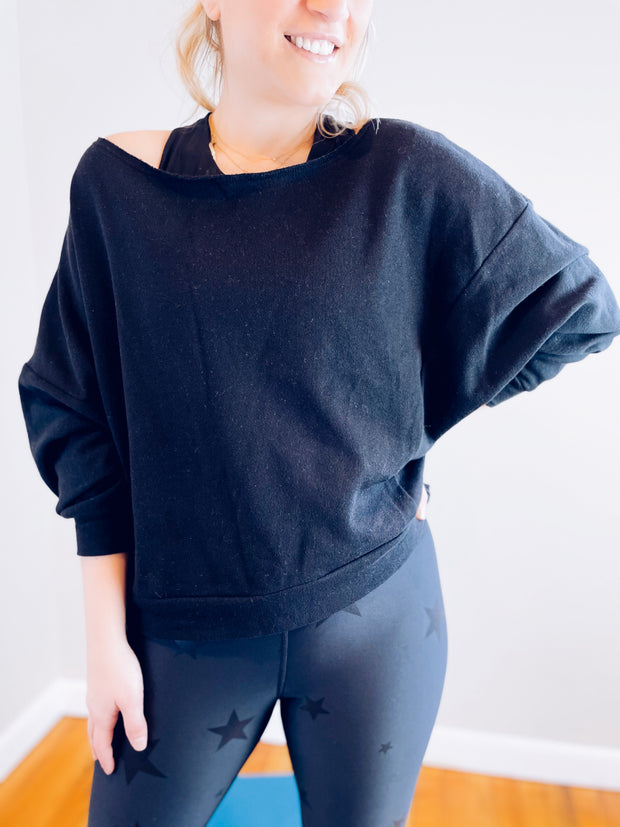 Love Affair Off the Shoulder Sweatshirt