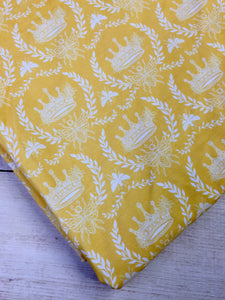 Clearance Cotton Spandex Yellow Crowns