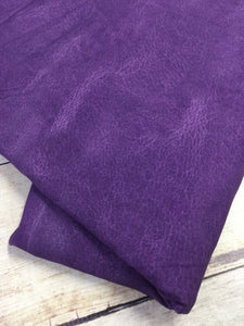 Purple Faux Leather Cotton Lycra