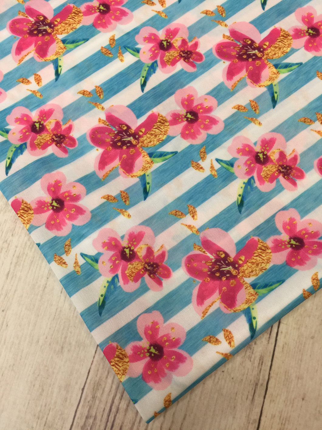 Tropical Floral Polyester Interlock