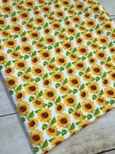 Load image into Gallery viewer, White Sunflowers French Terry