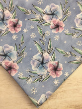 Load image into Gallery viewer, Clearance Cotton Spandex Periwinkle Winter Floral