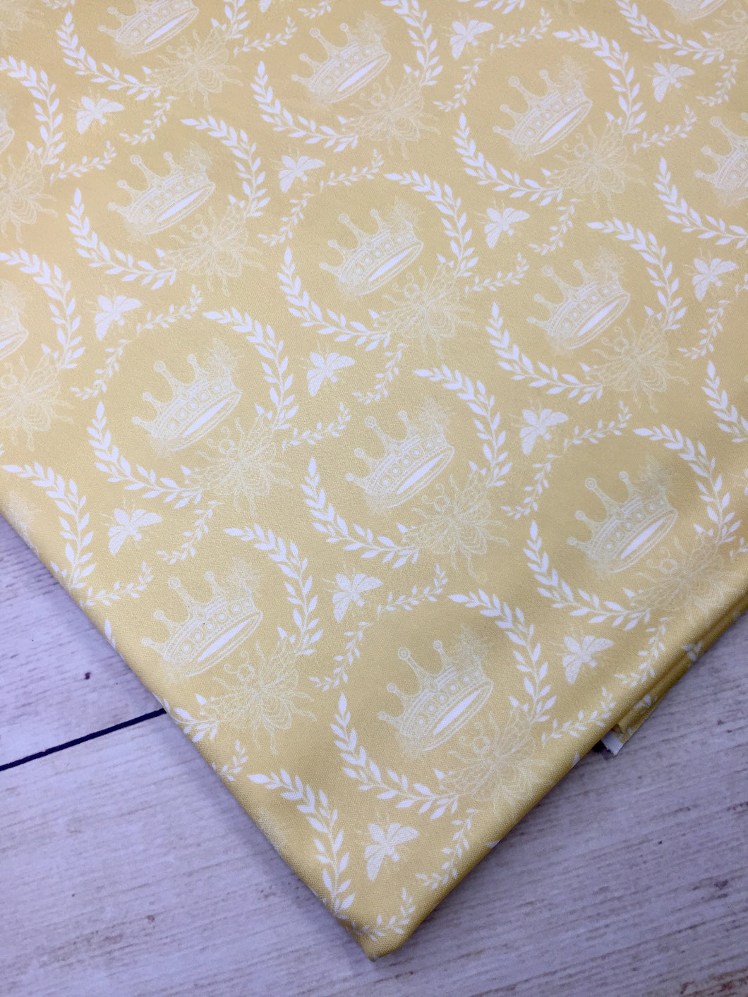 Yellow Crowns Polyester Interlock