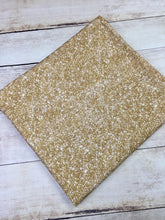Load image into Gallery viewer, Champagne Gold Faux Glitter Cotton Lycra
