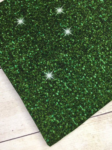 Green Faux Glitter Cotton Lycra