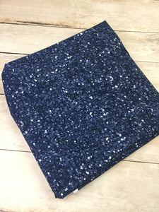 Midnight Faux Glitter Cotton Lycra