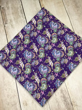 Load image into Gallery viewer, Under the Sea Purple Shells Cotton Lycra