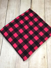 Load image into Gallery viewer, Clearance Hot Pink Plaid Heavy Weight CL