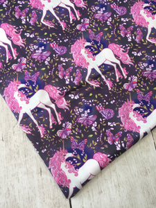 Enchanted Unicorns Polyester Interlock