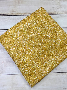 Bright Gold Faux Glitter Cotton Spandex