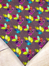 Load image into Gallery viewer, Stained Glass Leaves multi purple Cotton Spandex