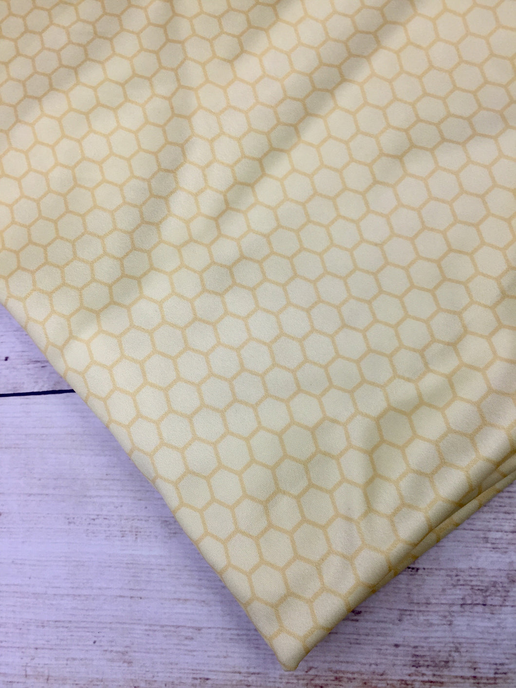 Yellow Honey Comb Polyester Interlock