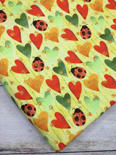 LadyBugs and Hearts Cotton Lycra