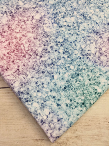 Pastel Rainbow Faux Glitter Cotton Lycra