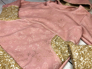 Foiled Leaves Cotton Spandex