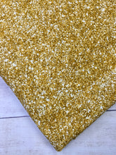 Load image into Gallery viewer, Bright Gold Faux Glitter Cotton Spandex