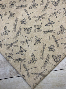 Butterflies and Dragonflies Cotton Spandex