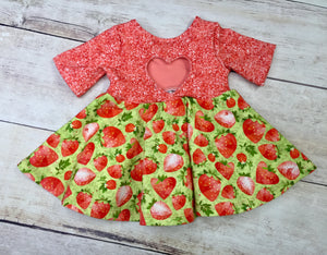 Green StrawBerries Cotton Spandex