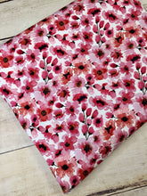 Load image into Gallery viewer, Water Color Floral Cherry Bamboo Spandex