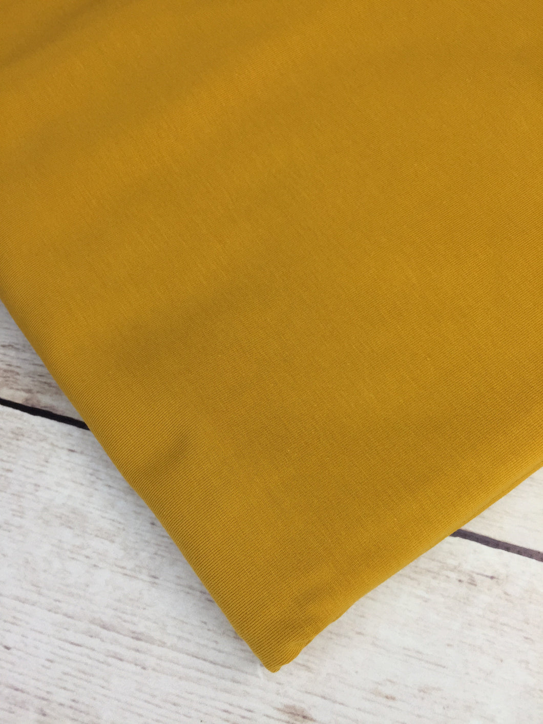 Mustard Cotton Lycra Jersey 12oz