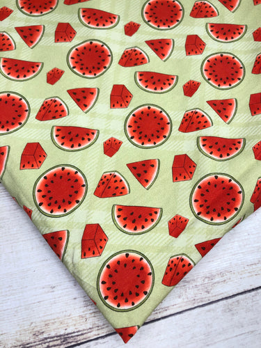 Green Watermelon Slices Bamboo Lycra