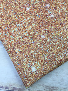 Peach Faux Glitter Cotton Spandex