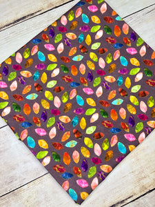 Stained Glass Leaves single Purple Cotton Spandex