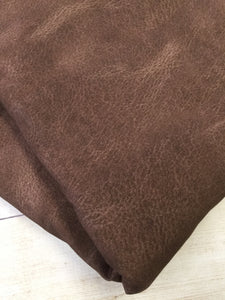 Dark Brown Faux Leather Cotton Spandex