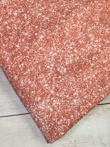 Rose Gold Faux Glitter Cotton Lycra