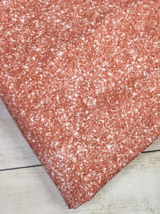 Rose Gold Faux Glitter Cotton Spandex