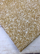 Load image into Gallery viewer, Champagne Gold Faux Glitter Cotton Spandex