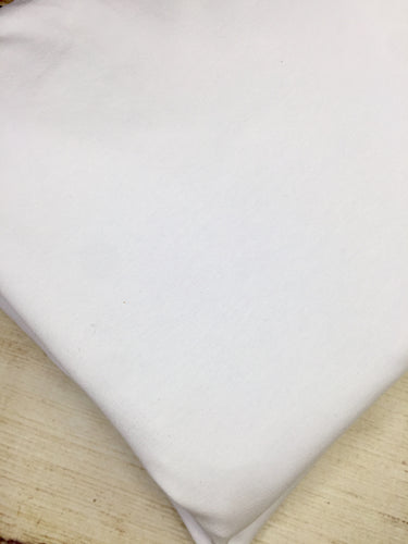 White Cotton Spandex Jersey 12oz