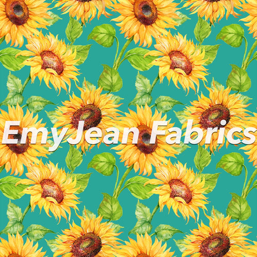 Turquoise Sunflowers Pre-Order