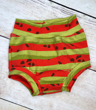 Load image into Gallery viewer, Red and Green Watermelon Stripes Cotton Lycra