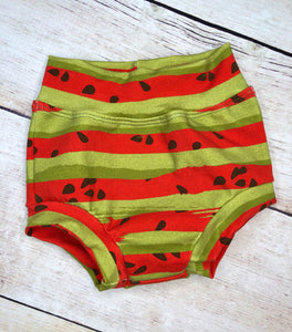Red and Green Watermelon Stripes Cotton Spandex