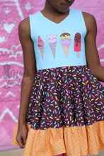 Load image into Gallery viewer, Ice Cream 4 Cotton Spandex Panel