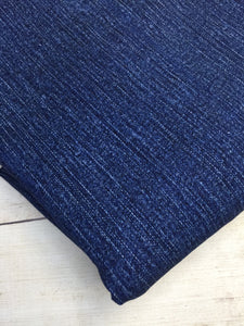 Blue Faux Denim Cotton Lycra