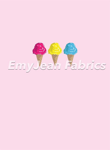 Ice Cream 3 Cotton Spandex Panel