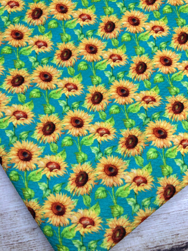 Turquoise Sunflowers Bullet