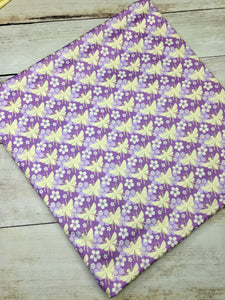 Purple Bees Polyester Interlock