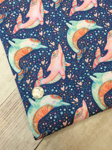 Celestial Dolphins Polyester Interlock