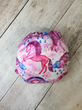 Load image into Gallery viewer, Cotton Candy Unicorns Polyester Interlock