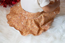 Load image into Gallery viewer, Peach Faux Glitter Cotton Spandex