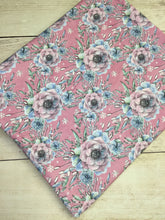 Load image into Gallery viewer, Pink Winter Floral Cotton Lycra