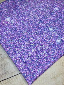 Light Purple Faux Glitter Cotton Spandex