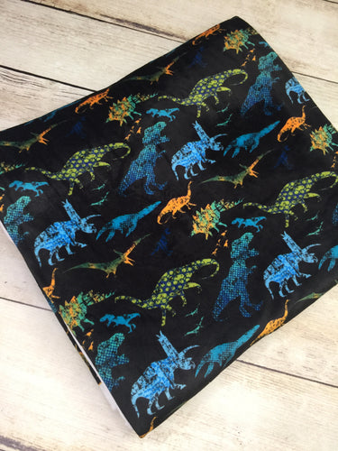 Electric Dinos Stretch Minky