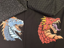 Load image into Gallery viewer, Blue Dragon Cotton Spandex Panel