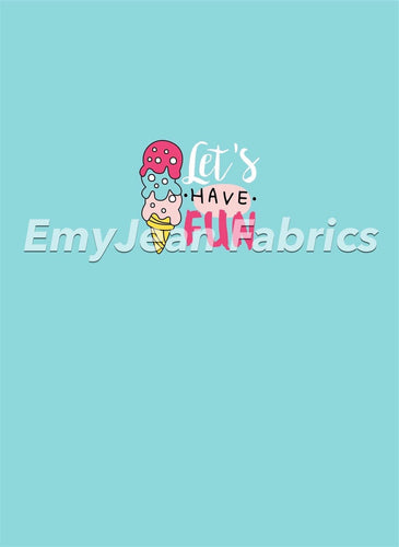 Ice Cream 2 Cotton Spandex Panel