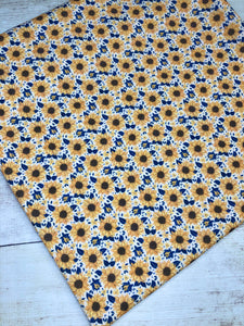 Yellow and Navy Sunflowers Bullet